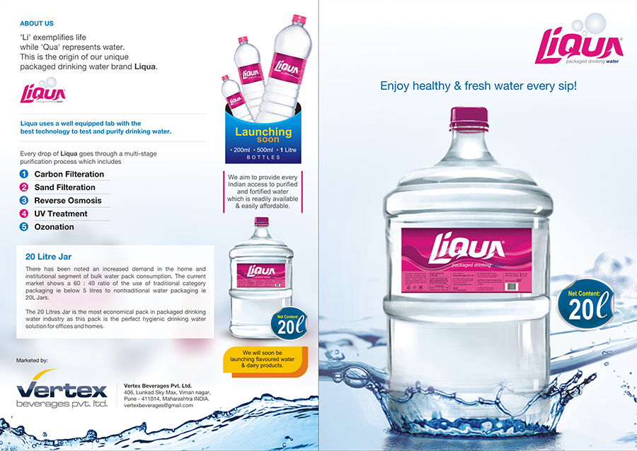 Liqua Packaged Drinking Water Brochure
