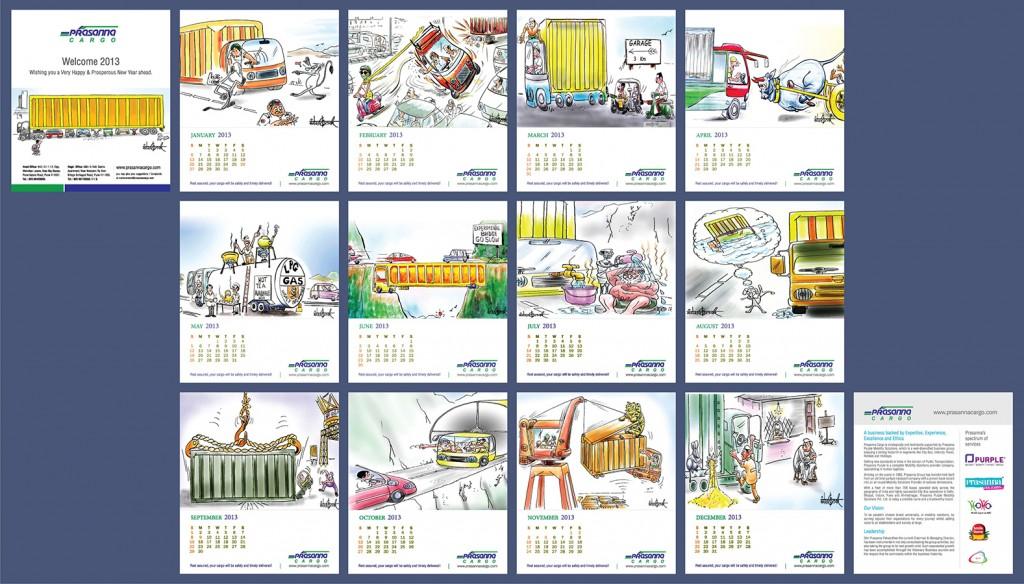 Prasanna Cargo Calendar Design